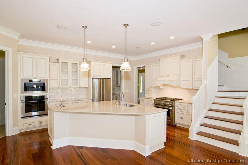 White kitchen island photo - 1
