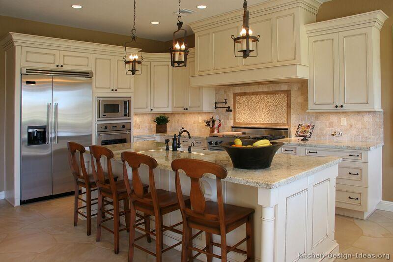 White kitchen island photo - 2