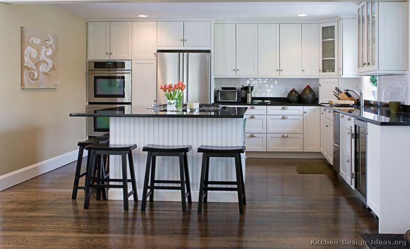 White kitchen island photo - 3