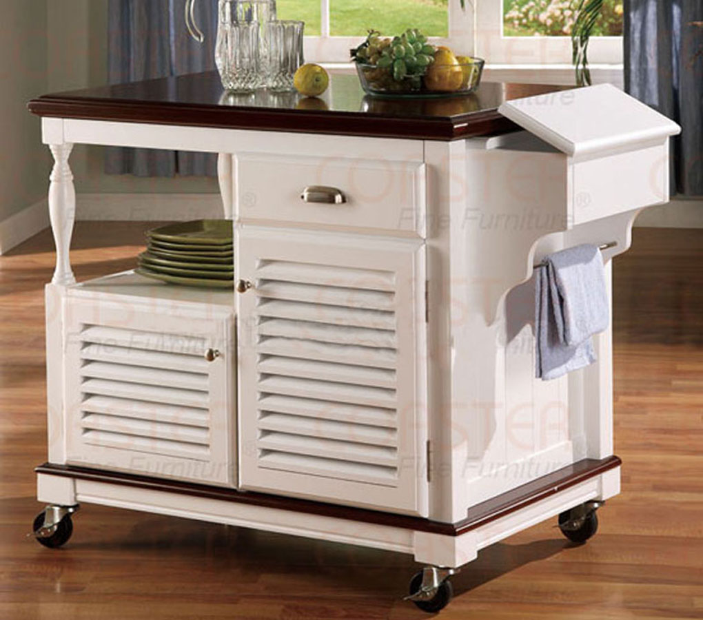 White kitchen island cart | | Kitchen ideas