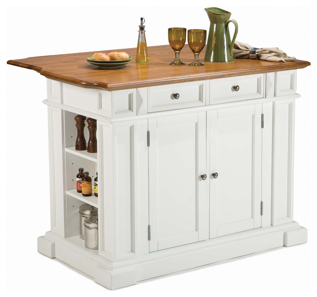 White kitchen island on wheels photo - 1