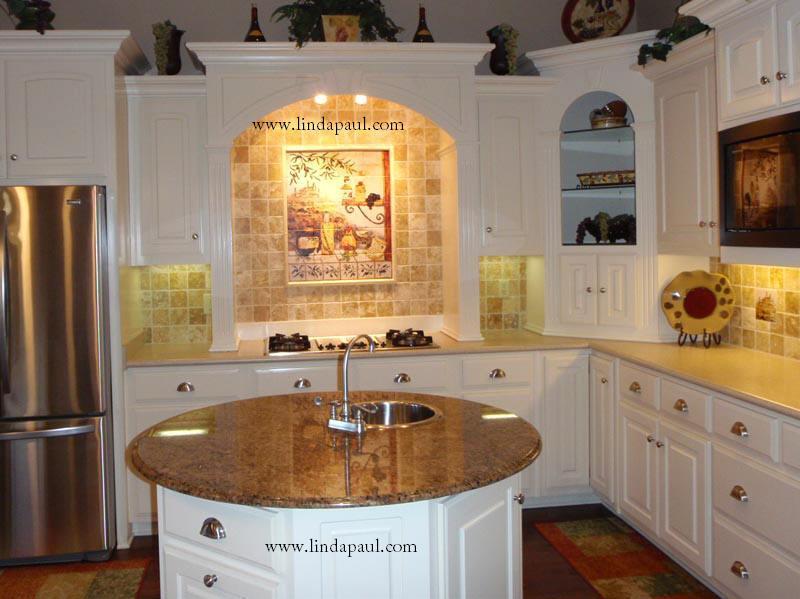 White kitchen island table photo - 2