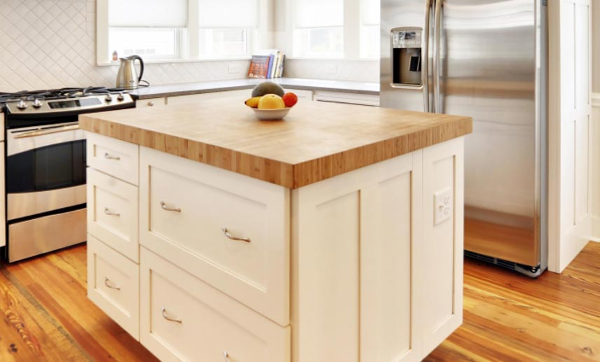 10 Photos To White Kitchen Island With Butcher Block Top