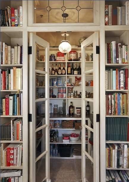 White kitchen pantry photo - 2