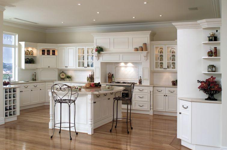 White kitchen sets photo - 2