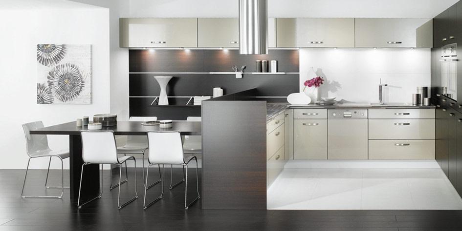 White kitchen sets photo - 3