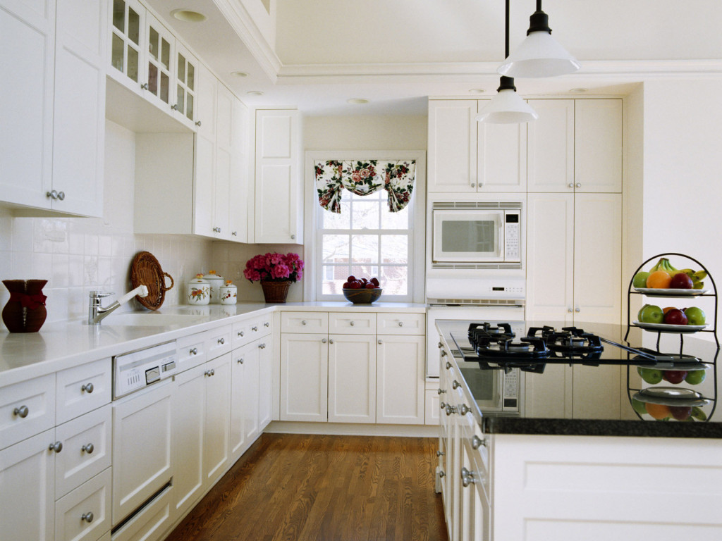 White kitchen storage cabinet photo - 2
