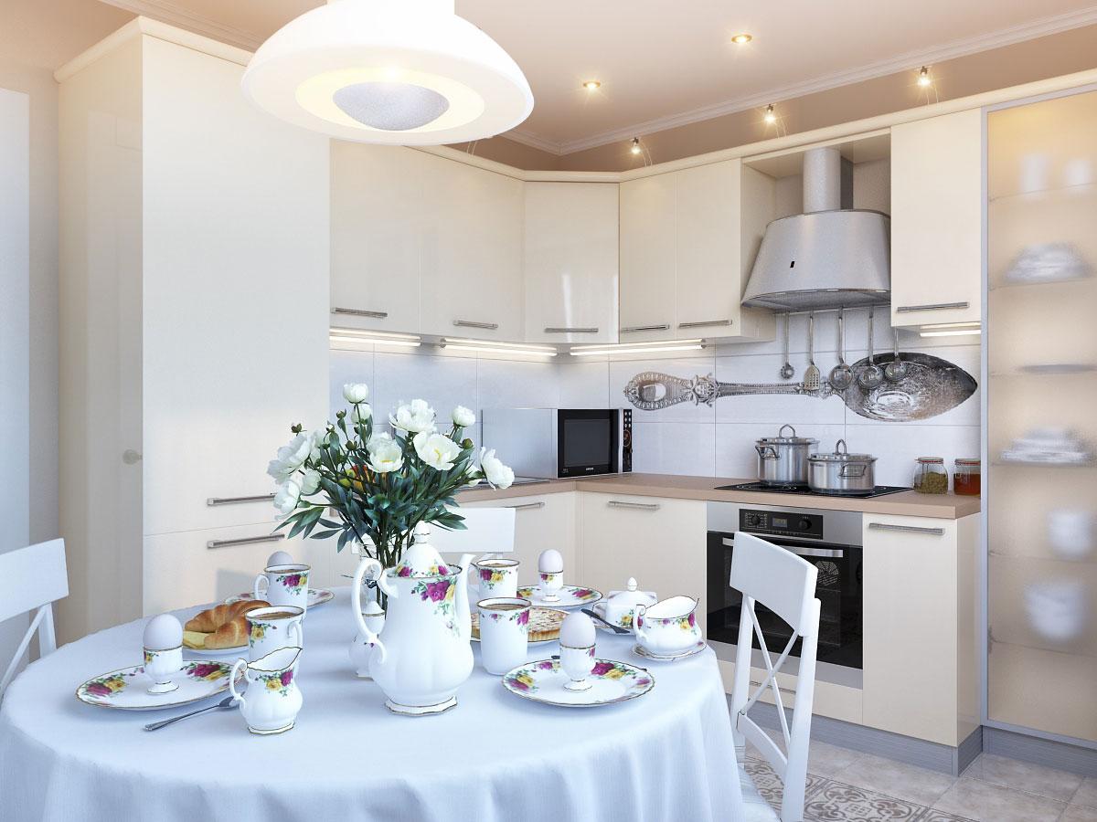 White kitchen table set photo - 2