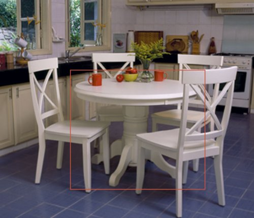 White kitchen tables and chairs photo - 1