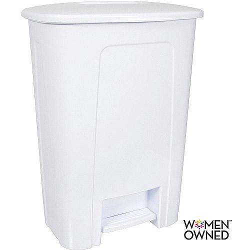 White kitchen trash can photo - 2