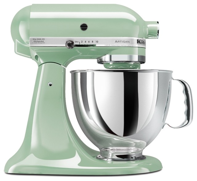 White kitchenaid stand mixer photo - 1