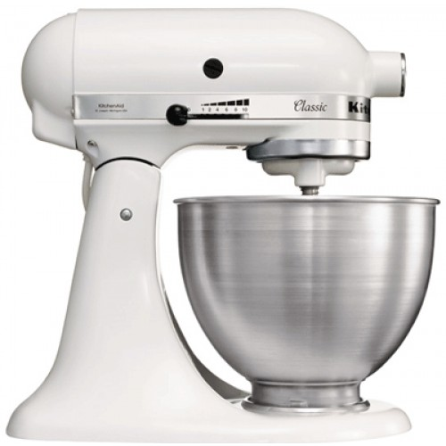 White kitchenaid stand mixer photo - 3
