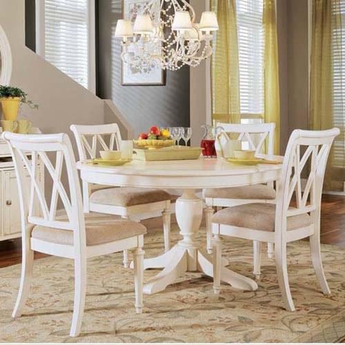White round kitchen table set photo - 1