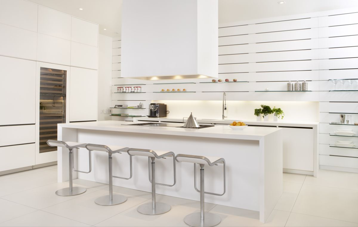 White stools for kitchen photo - 2