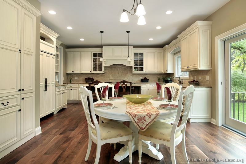 White table and chairs for kitchen photo - 2