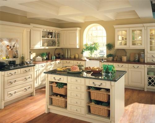 White wood kitchen table photo - 1