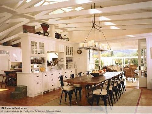 White wood kitchen table photo - 3