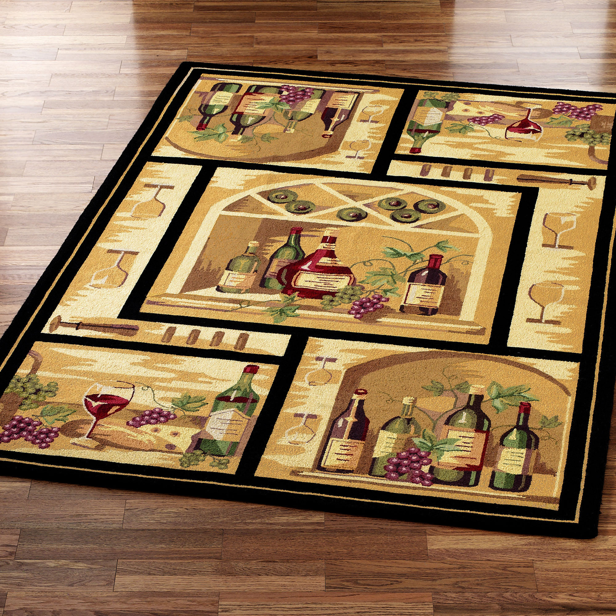 Wine kitchen rugs photo - 2