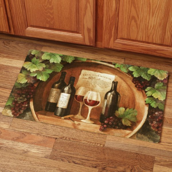 Wine themed kitchen rugs photo - 2