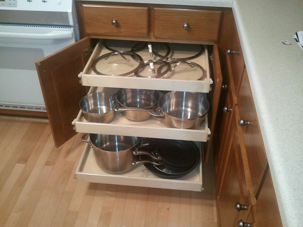 Superior Wire Slide Out Shelves For Kitchen Cabinets Photo   1