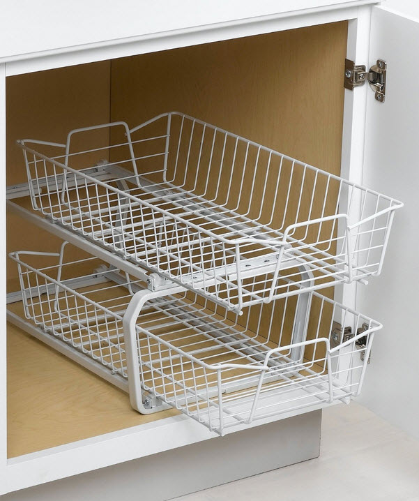 Wire slide out shelves for kitchen cabinets photo - 3