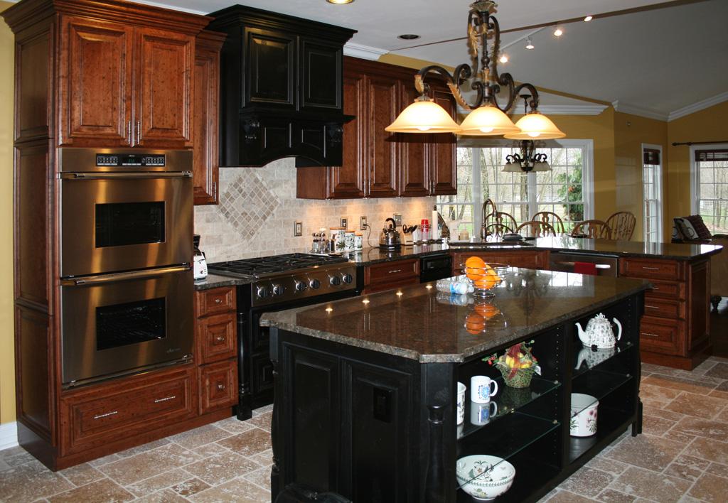 Wood top kitchen island photo - 2