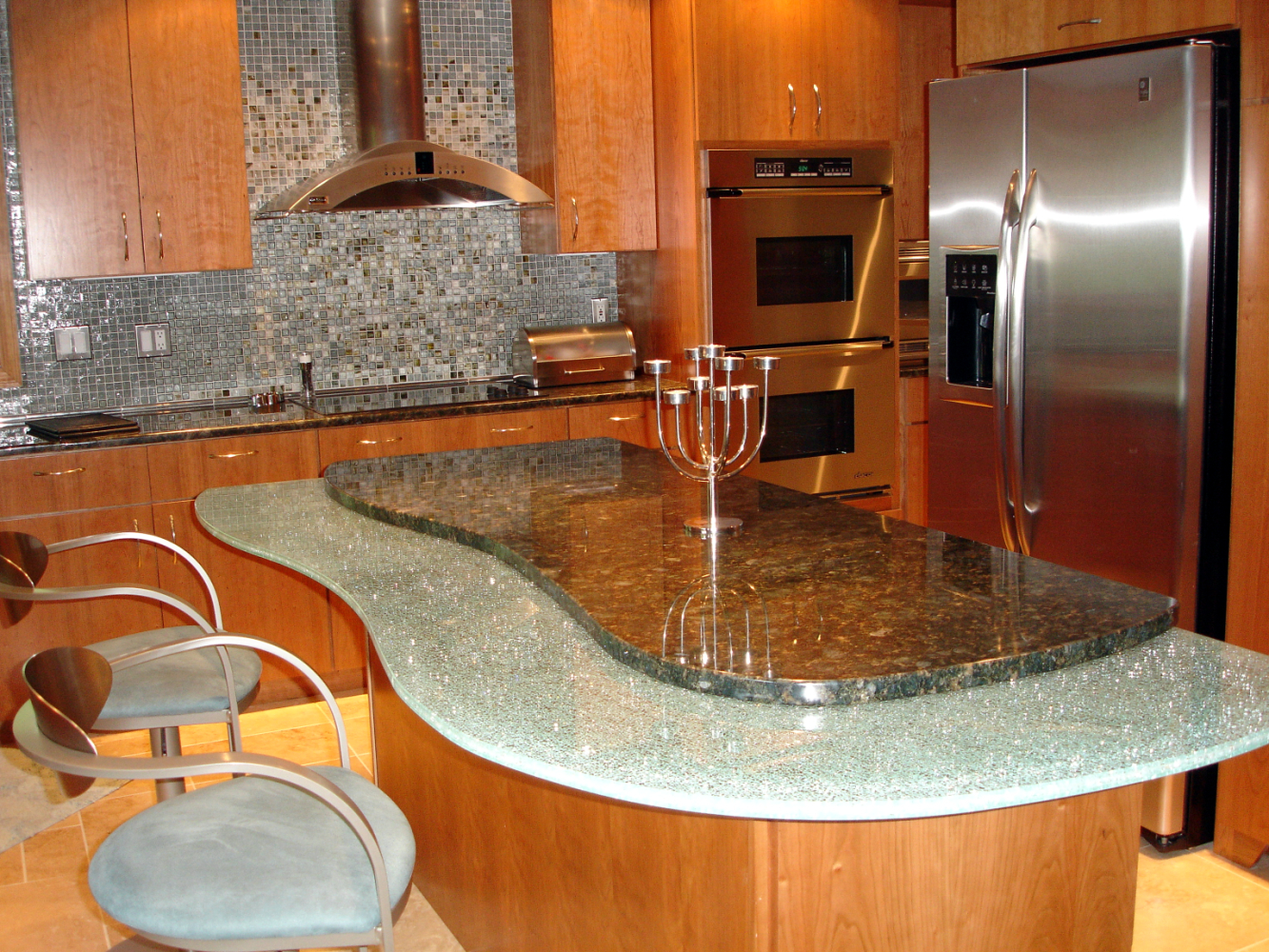 Wooden kitchen islands photo - 2