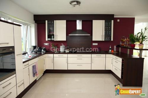 Wooden kitchen pantry cabinet photo - 2