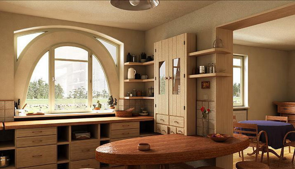 Wooden kitchen set photo - 3