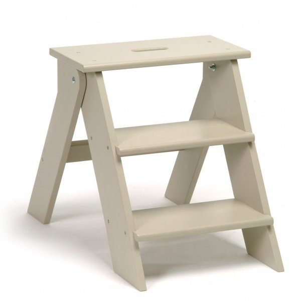 Wooden kitchen step stool photo - 3