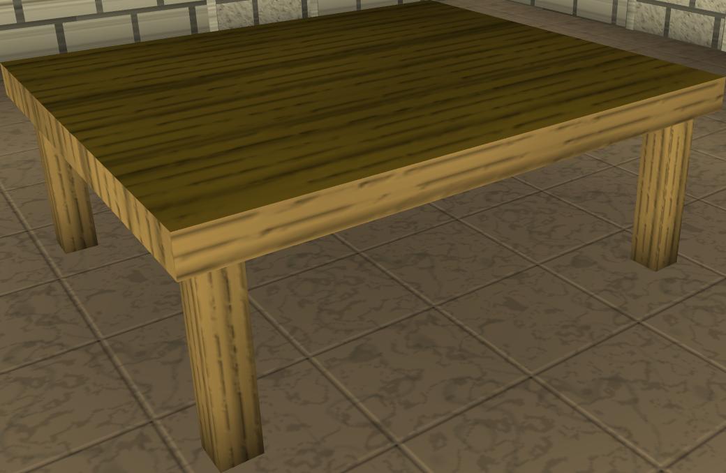 Wooden kitchen table photo - 1