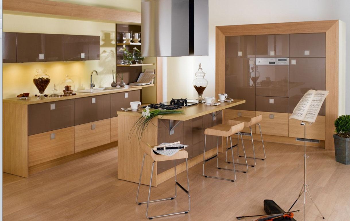 Wooden kitchen table photo - 3