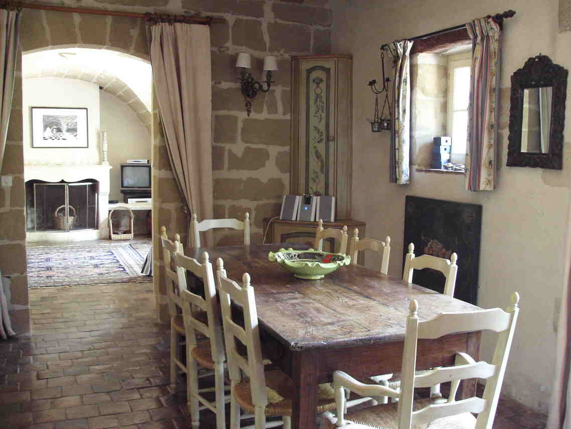 Wooden kitchen table and chairs photo - 2