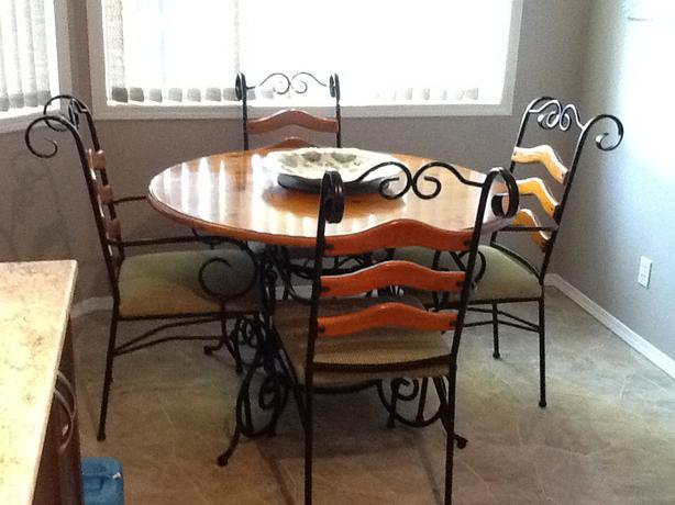 Wrought iron kitchen table and chairs photo - 1