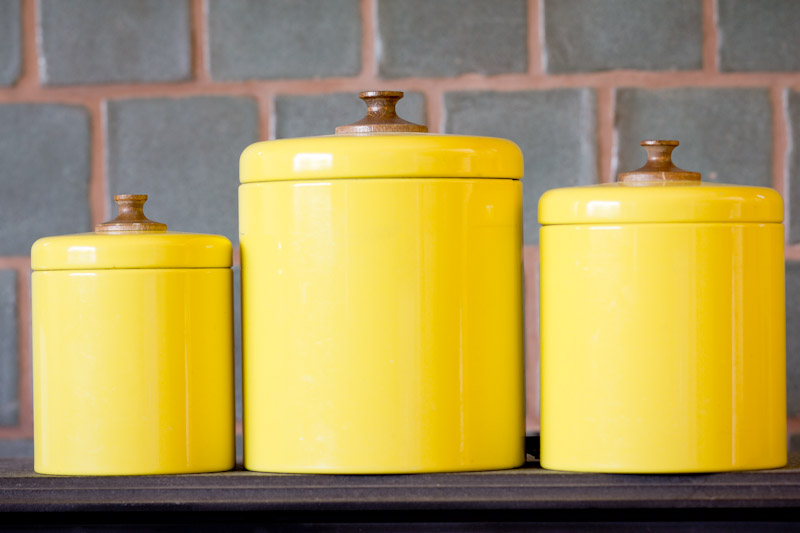 Yellow kitchen canisters | | Kitchen ideas
