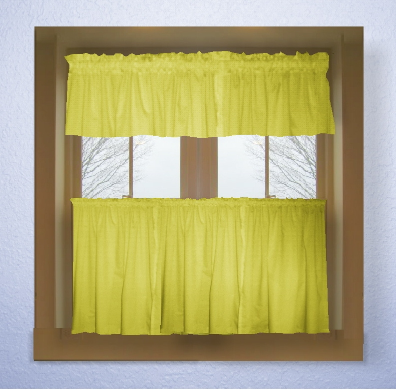 Yellow kitchen curtains photo - 1