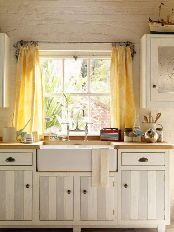 Yellow kitchen curtains photo - 3