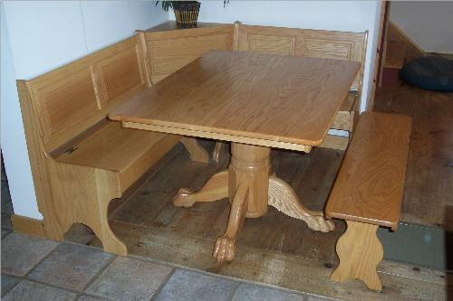 kitchen table with bench photo - 2