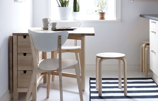 kitchen tables for small spaces photo - 2