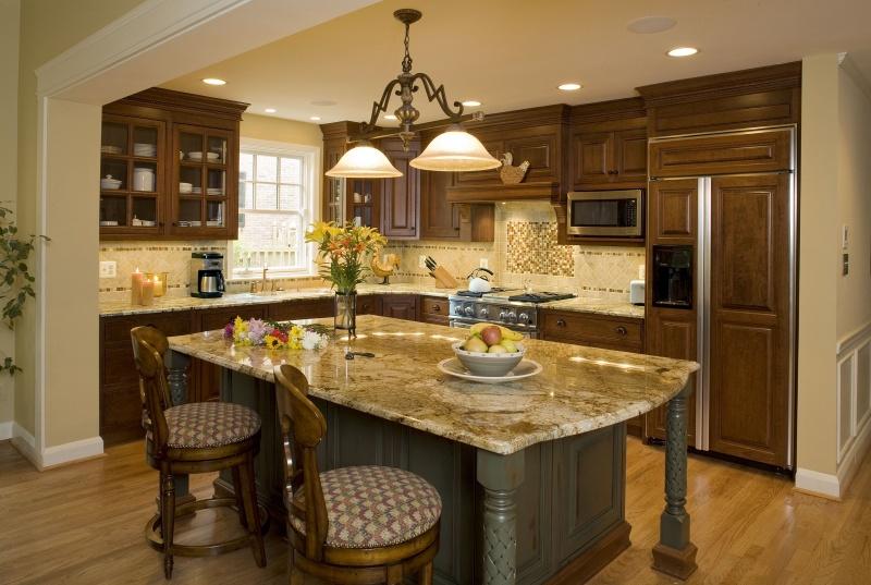 large kitchen island photo - 1