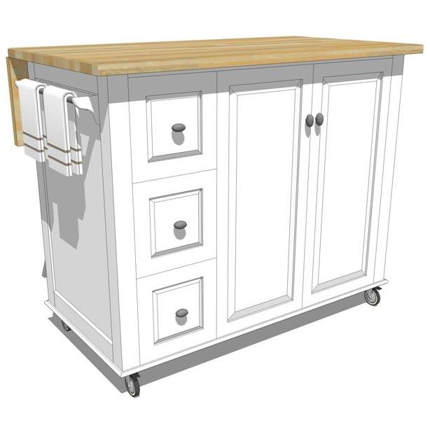 mobile kitchen island photo - 1