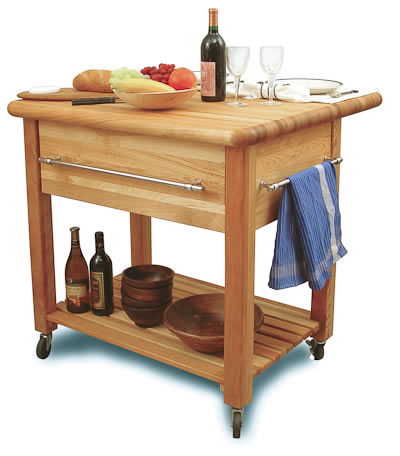 Mobile Kitchen Island metro mobile kitchen island with solid walnut top Portable Kitchen Island Photo 2
