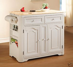 white kitchen island photo - 2