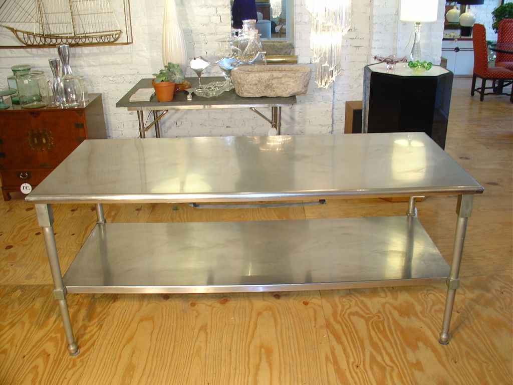 stainless steel kitchen work table island stainless steel kitchen island photo 8 kitchen ideas 9412