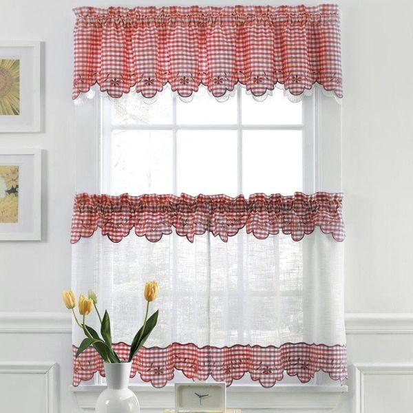 Checkered Kitchen Curtains Ideas