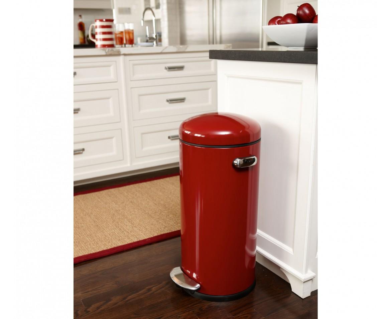 Red Kitchen Garbage Can Photo 5 Kitchen Ideas
