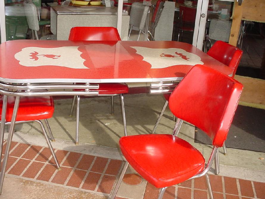 Retro kitchen table and chairs kitchen ideas for Kitchen table sets for 6