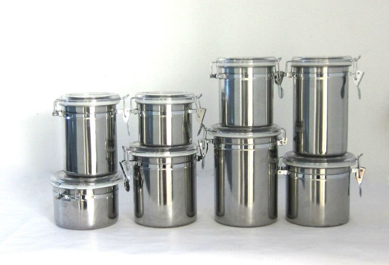 stainless steel kitchen canister stainless steel canisters kitchen photo 4 kitchen ideas 22166