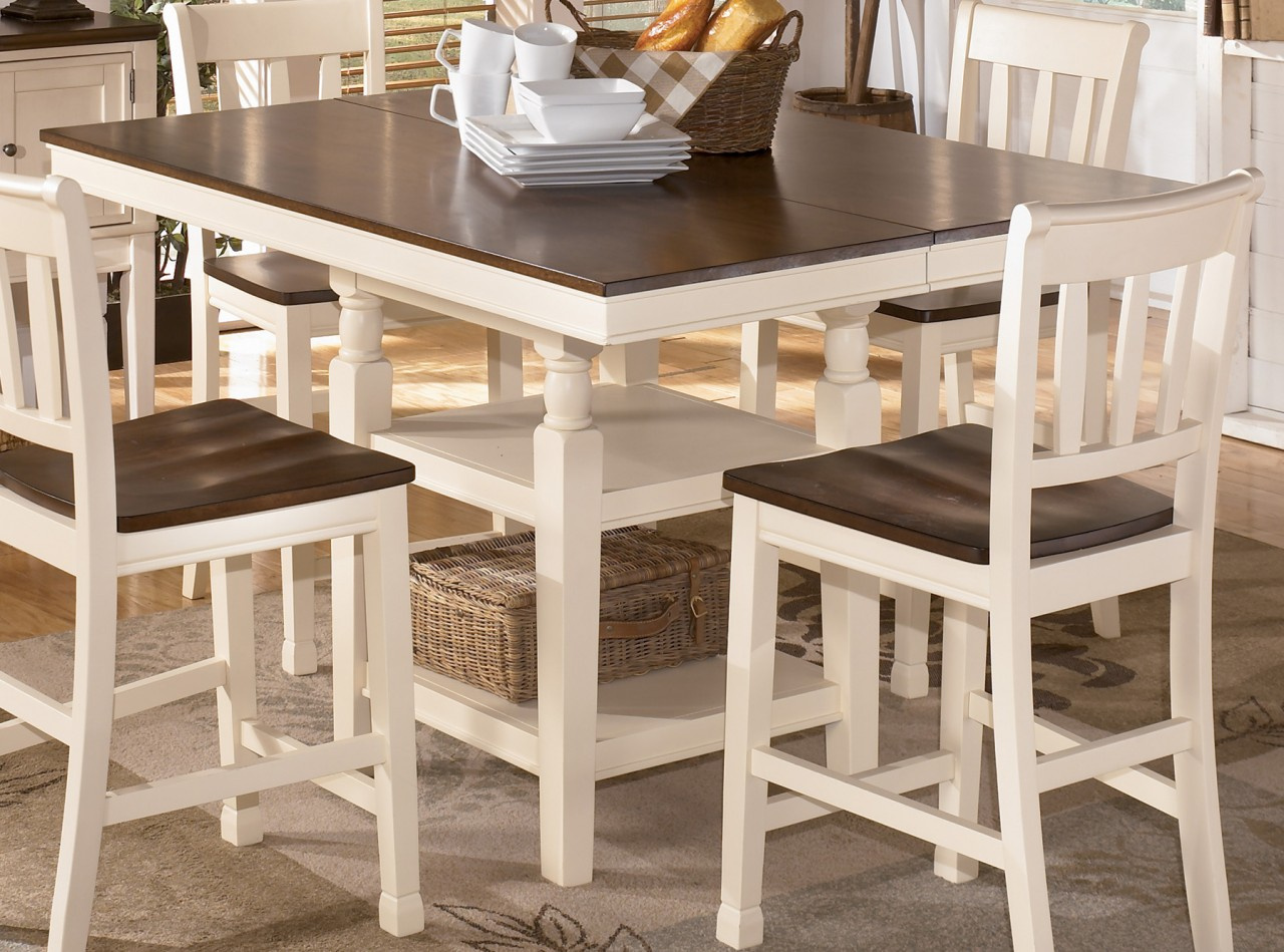 White High Kitchen Table - Martinique