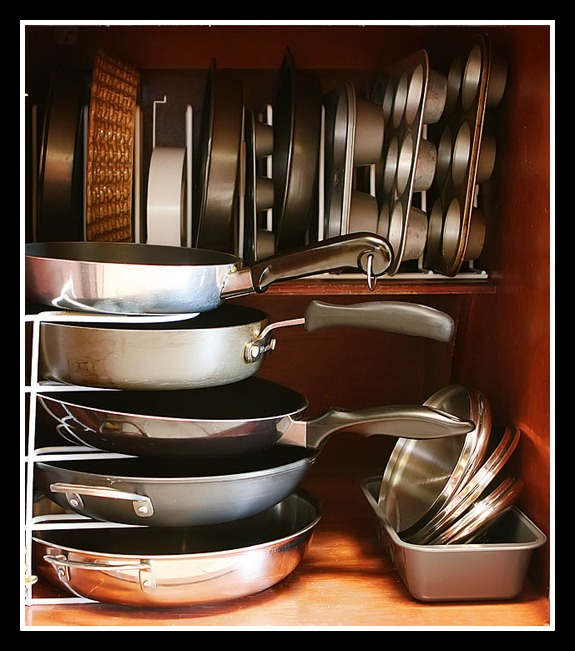 10 Photos To Kitchen Cabinet Pot Organizer